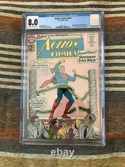 1962 Silver Age Action Comics #295 CGC graded 8.0