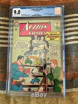 1964 DC Comics Action Comics #310 CGC graded 9.0