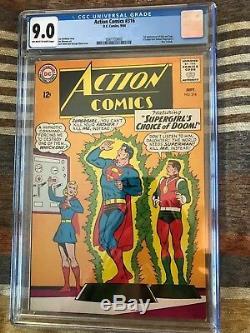 1964 DC Comics Action Comics #316 CGC graded 9.0