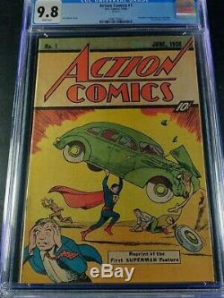 1976 DC Action Comics #1 Reprint CGC 9.8 White Pages HTF Sleeping Bag Version