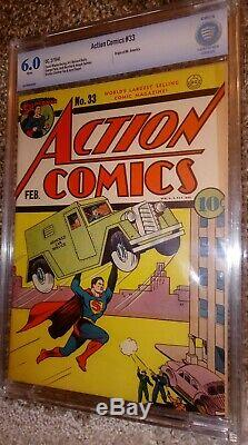6.0 Action Comics #33 Superman, White Pages! Classic Cover