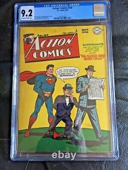 ACTION COMICS #100 CGC NM- 9.2 OW-W Wayne Boring cvr