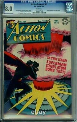 ACTION COMICS 101 CGC 8.0 WP SUPERMAN ATOMIC EXPLOSION WWII Golden Age DC 1946