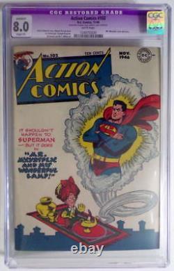 ACTION COMICS #102 CGC 8.0 SUPERMAN 1946 Mr. Mxyzptlk cover / story