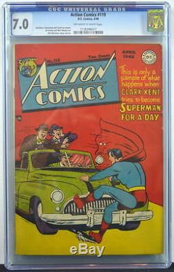 ACTION COMICS #119 CGC 7.0 Superman 1948 3rd Higest Grade