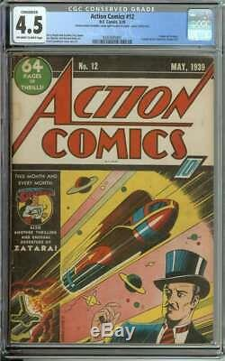 ACTION COMICS #12 CGC 4.5 OWithWH PAGES C