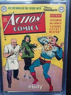ACTION COMICS #141 CGC FN- 5.5 OW-W rare Luthor cover