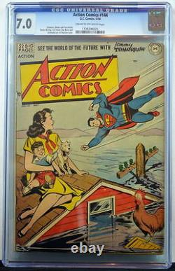 ACTION COMICS #144 CGC 7.0 Superman 1950 3rd Highest Grade