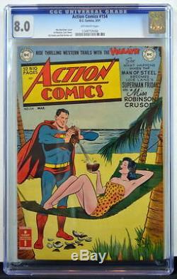 ACTION COMICS #154 CGC 8.0 Superman 1951 Highest Graded Copy