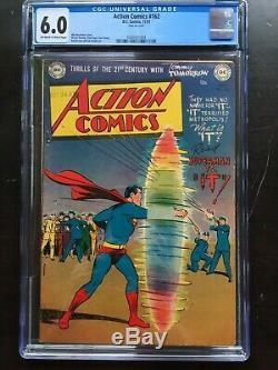 ACTION COMICS #162 CGC FN 6.0 OW-W Mortimer Superman vs. It battle cvr! Rare