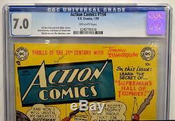 ACTION COMICS #164 CGC 7.0 Superman 1952 3rd Highest Grade