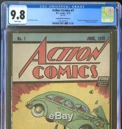 ACTION COMICS #1 (1976) CGC 9.8 SAFEGUARD PROMOTIONAL REPRINT! Superman