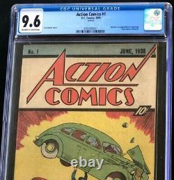 ACTION COMICS #1 1976 Reprint CGC 9.6 Sleeping Bag Promotional 10 CENT