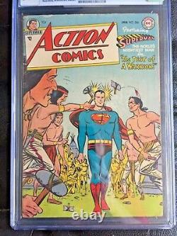 ACTION COMICS #200 CGC VG/FN 5.0 OW-W Wayne Boring art! Scarce