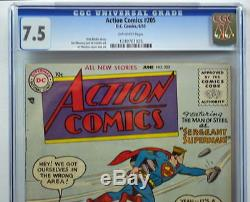 ACTION COMICS #205 CGC 7.5 Superman 1954 War Cover 3rd Highest Graded copy