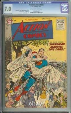 ACTION COMICS #206 CGC 7.0 OWithWH PAGES