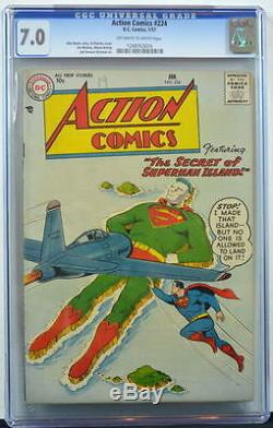 ACTION COMICS #224 CGC 7.0 Superman 1957 4th Highest Grade