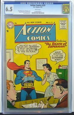 ACTION COMICS #225 CGC 6.5 Superman 1956