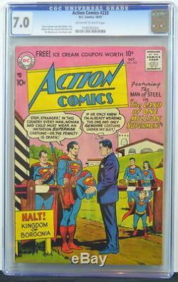 ACTION COMICS #233 CGC 7.0 Superman 1957 4th Highest grade