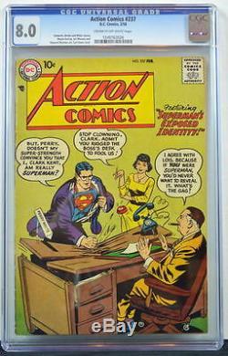 ACTION COMICS #237 CGC 8.0 Superman 1958 4th Highest Graded copy