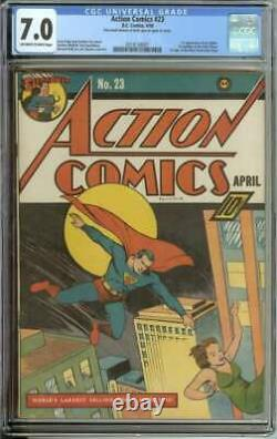 ACTION COMICS #23 CGC 7.0 OWithWH PAGES // 1ST APPEARANCE OF LEX LUTHOR