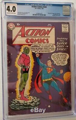 ACTION COMICS 242 - CGC 4.0 - First Brainiac! 1958