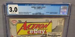 ACTION COMICS #252 (Supergirl & Metallo 1st app.) CGC 3.0 GD/VG DC Comics 1959