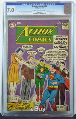 ACTION COMICS #261 CGC 7.0 Superman 1960 Origin & 1st App Streaky 3rd Best copy