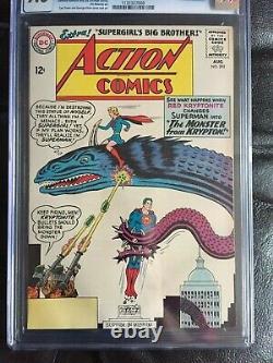 ACTION COMICS #303 CGC NM+ 9.6 OW-W QES book! Supergirl cover
