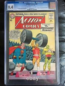 ACTION COMICS #304 CGC NM 9.4 OW-W weightlifting cover Origin Black Flame