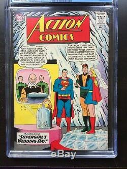 ACTION COMICS #307 CGC VF/NM 9.0 OW-W Supergirl wedding cover