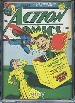 ACTION COMICS #57 CGC-6.5, OW Superman 3rd Lois Lane cover