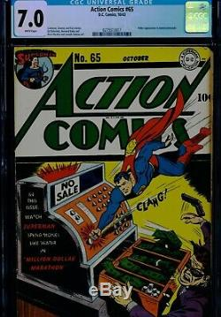 ACTION COMICS #65 CGC-7.0 WP Superman