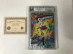 ACTION COMICS 700 Pgx 9.8 SIGNED SUPERMAN CREATOR JERRY SIEGEL Like Cgc