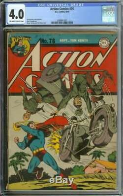 ACTION COMICS #76 CGC 4.0 OWithWH PAGES