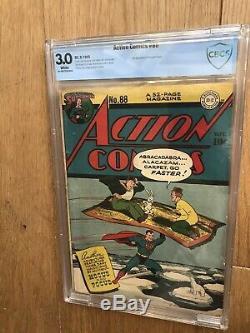 ACTION COMICS #88 Superman 1945 CBCS Like CGC Golden Age 10 Cent Hocus Pocus App