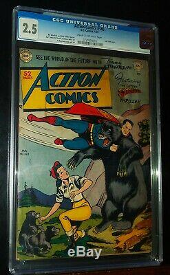ACTION COMICS SUPERMAN #140 1950 D. C. DC Comics CGC 2.5 GOOD+