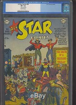 ALL STAR COMICS #54 CGC VF- 7.5 OW scarce