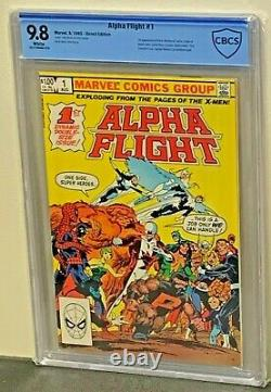 ALPHA FLIGHT #1 9.8 HIGHEST Graded 13 1st Appearance 1983 Marvel Comics CGCCBCS