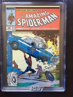 AMAZING SPIDER-MAN #306 CGC NM/MT 9.8 White pg! Action Comics #1 cvr tribute