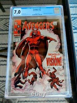 AVENGERS # 57 CGC 7.0 First VISION MCU Wanda Disney+ Marvel Comics 1968 Key Isue