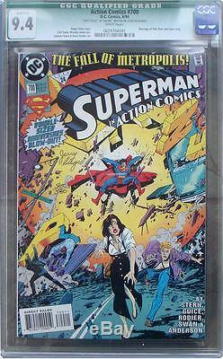 Action #700 Jerry Siegel Signed Cgc Graded 9.4! Dynamic Forces Certified
