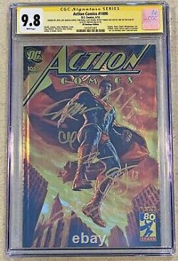 Action Comics #1000 (2018) CGC 9.8 - Boutique (Gold Foil) Edition Signed x6