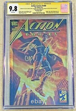 Action Comics #1000 (2018) CGC 9.8 Boutique Gold Foil Signed JIM LEE x6 Superman