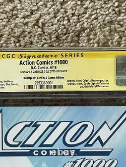 Action Comics 1000 Gabriele Dell Otto Bulletproof Variant 9.8 Cgc Signed