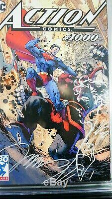 Action Comics #1000 Jim Lee Tour Variant CGC SS 9.6 Original Superman Sketch