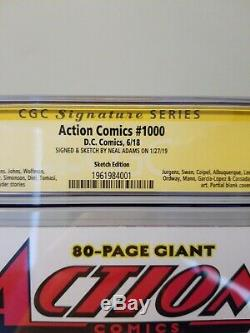 Action Comics 1000 Neal Adams Sketch cgc 9.8