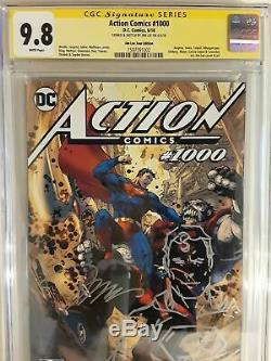 Action Comics #1000 (cgc 9.8) Jim Lee Signed & Sketch! Tour Variant Cover