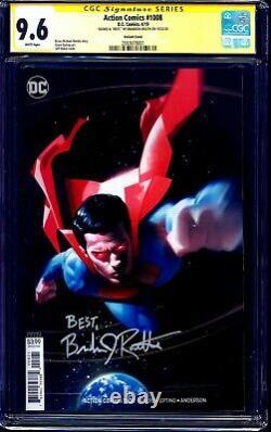 Action Comics #1008 VARIANT CGC SS 9.6 signed Brandon Routh SUPERMAN RETURNS KC