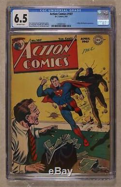 Action Comics #107 CGC 6.5 1947 1399857001